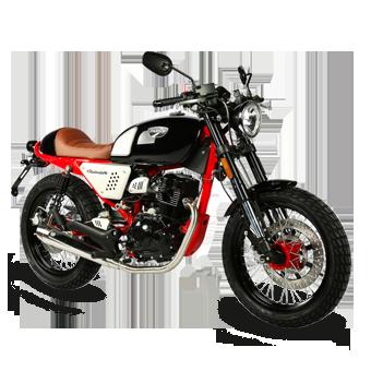 moto black cafe 125 euro 4 masai motos loisirs. Black Bedroom Furniture Sets. Home Design Ideas